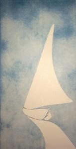 Una piccola vela bianca, di Gino Borrini