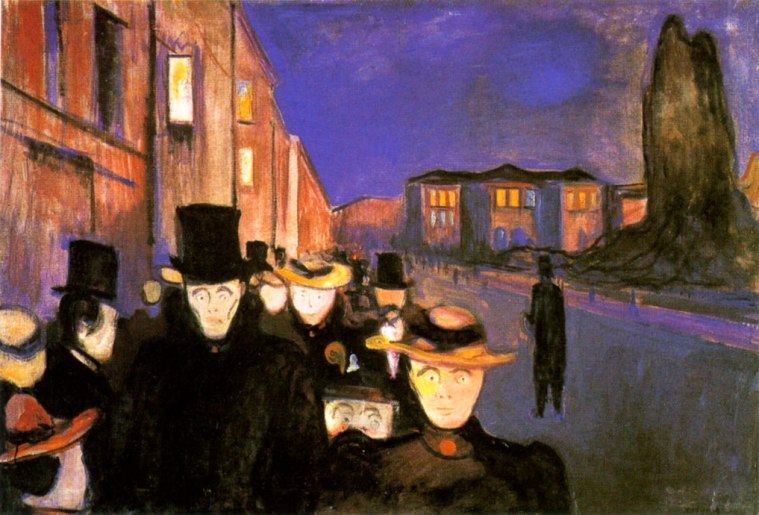 Sera sul viale Karl Johan, di Edvard Munch, 1892