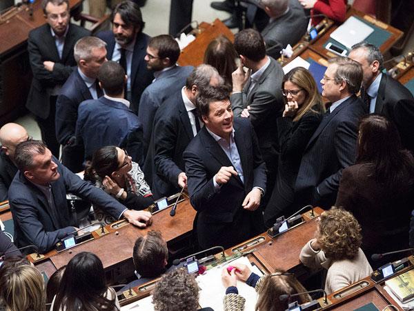 Matteo Renzi alla Camera