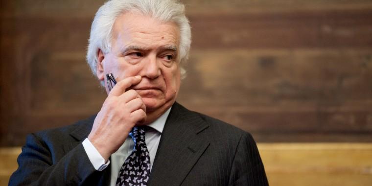 25/04/2013 Roma, consultazioni con i partiti del presidente incaricato di formare il governo. Nella foto Denis Verdini