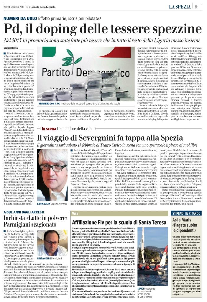 """Pagina odierna de """"Il Giornale"""""""