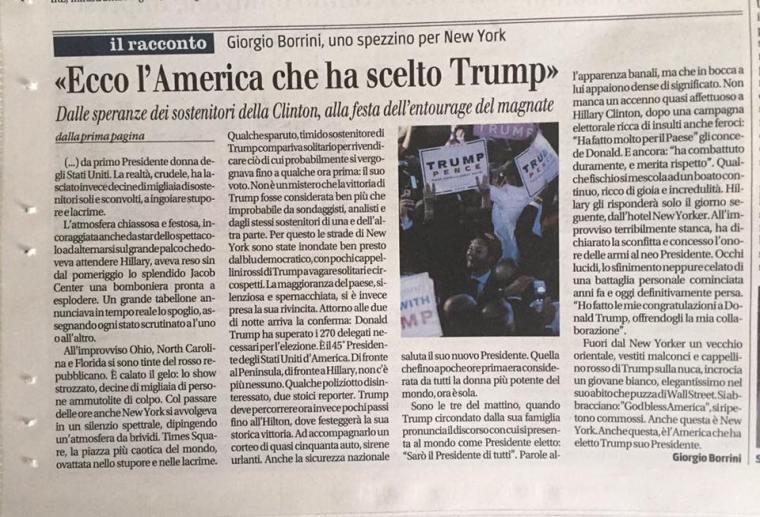 Il Giornale, 11/11/2016