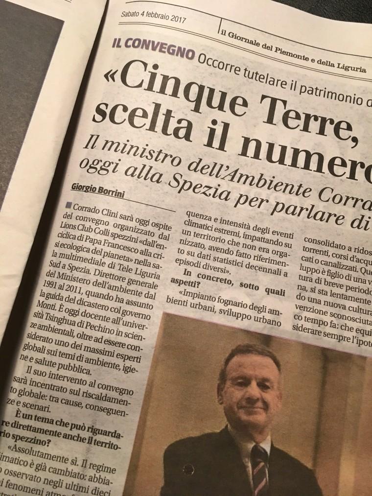 """Pubblicata oggi su """"Il Giornale"""" - 04/02/2017"""